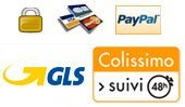 Paiement s&eacute;curis&eacute; - livraison GLS ou Colissimo