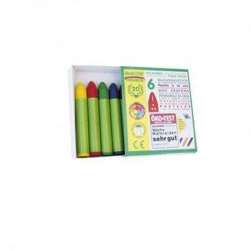 6 Crayons pastels à la cire - Ökonorm