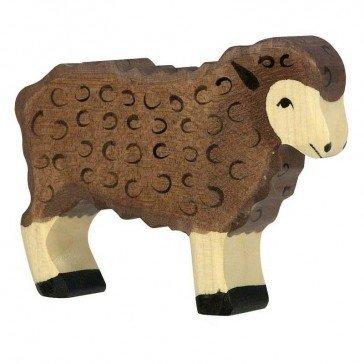 Mouton noir en bois - Figurines Holztiger