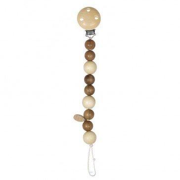 Attache tétine perles naturelles - Heimess