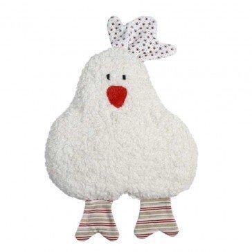 Hochet en coton biologique Poule rouge - Fabricant allemand
