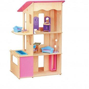 Maxi maison de poupée type Barbie meublée - JB Bois
