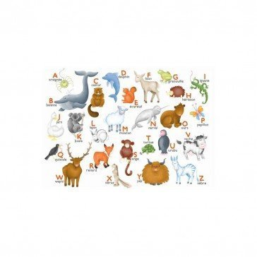 Puzzle en bois l'alphabet des animaux 12 pcs | Puzzles Michèle Wilson