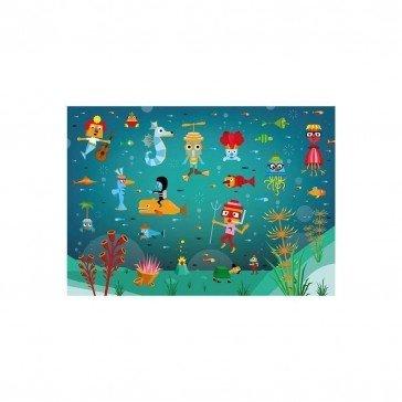 Puzzle en bois Le Monde Aquatique 100 pcs   Puzzles Michèle Wilson