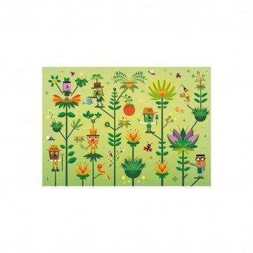Puzzle en bois Le Monde Végétal 50 pcs | Puzzles Michèle Wilson