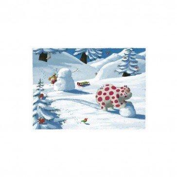 Puzzle en bois Surprise à la Montagne 24 pcs | Puzzles Michèle Wilson