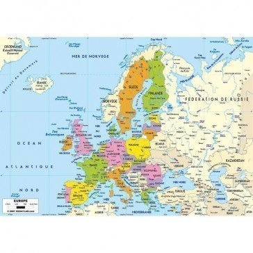 Puzzle Carte d'Europe 50 pcs - Michèle Wilson