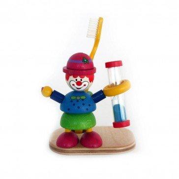 Sablier en bois brosse à dents Clown - Fabricant Allemand