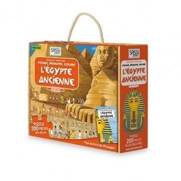 Puzzle L'ancienne Egypte 200 pièces avec livre - Sassi Sciences
