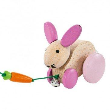Hanna Hoppel petit lapin à trainer - Selecta