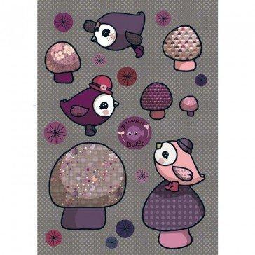 Stickers Piou Piou rose - Poisson Bulle