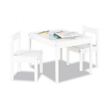 Table et 2 chaises en bois - Pinolino