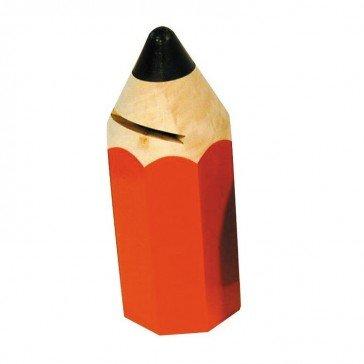 Artisan du Jura Tirelire Crayon rouge
