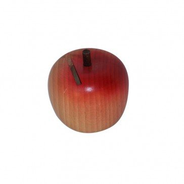 Tirelire en bois petite pomme - Artisan du Jura