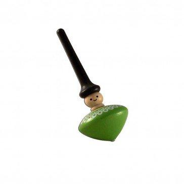 Toupie personnage vert - Artisan du Jura