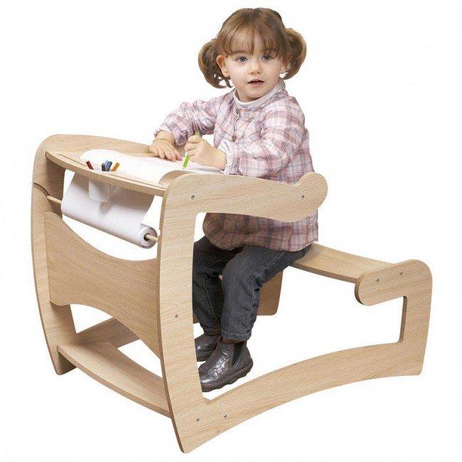 Bureau du petit colier jb bois - Petit bureau ecolier en bois ...