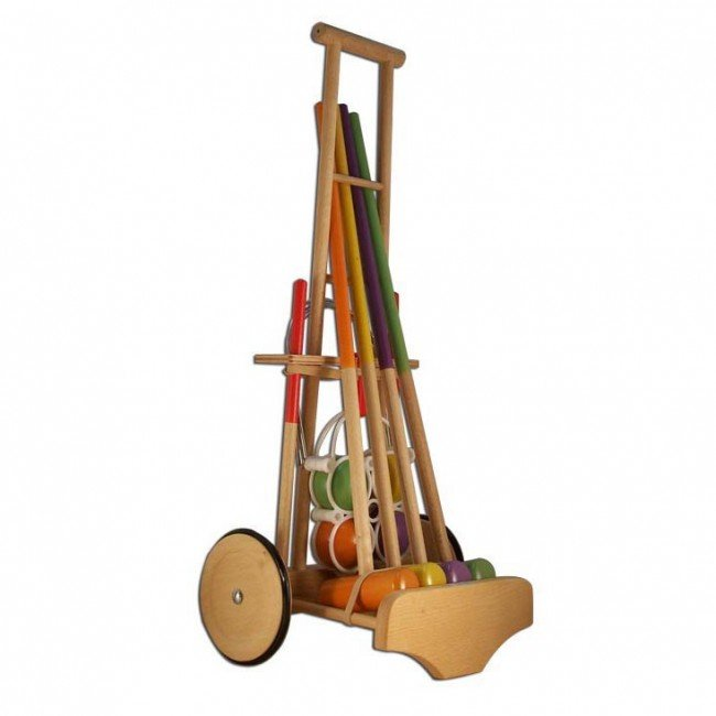 jeu de croquet en bois pour les petits artisan du jura. Black Bedroom Furniture Sets. Home Design Ideas