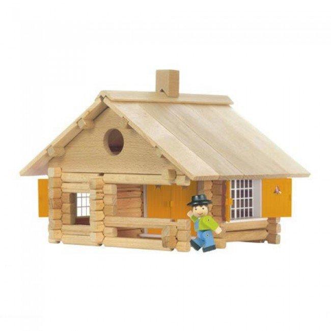 Maison en rondins en bois 135 pi ces jeujura - Jeux de construire une maison ...
