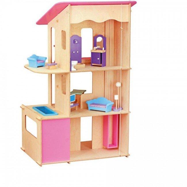 maxi maison pour poup es mannequins non meubl e jbbois. Black Bedroom Furniture Sets. Home Design Ideas