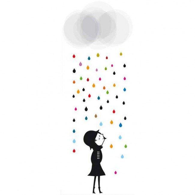 stickers-poisson-bulle-mademoiselle-sous-la-pluie