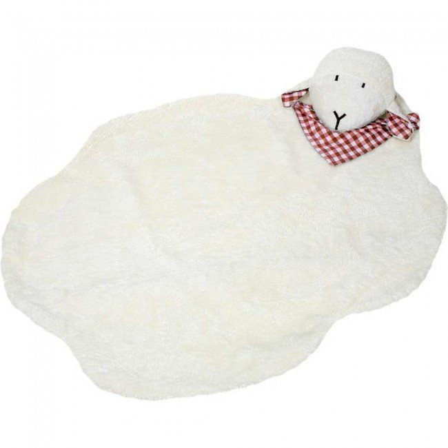 tapis de jeu mouton en coton biologique 95 x 75 cm. Black Bedroom Furniture Sets. Home Design Ideas