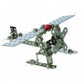 Jeu de construction métallique l'avion ou l'hélicoptère