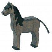 Cheval noir Holztiger