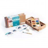 Kit de maquillage 8 couleurs arc-en-ciel