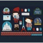 Stickers Souvenirs de Paris - repositionnables