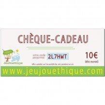 Chèque cadeau 10 € - Jeujouethique.com