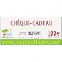 Chèque cadeau 100 € - Jeujouethique.com