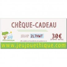 Chèque cadeau 30 € - Jeujouethique.com