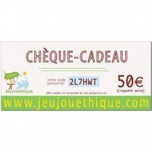 Chèque cadeau 50 € - Jeujouethique.com