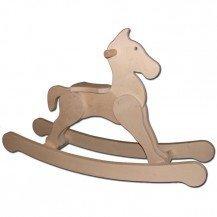 Cheval à bascule naturel - Artisan Français