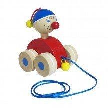 Clown en bois à traîner - Fabricant Allemand