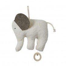 Eléphant musical avec anneau en bois - Fabricant allemand
