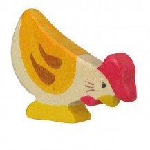 Poule picorant - holztiger