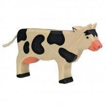 Vache en bois pie noire - Holztiger