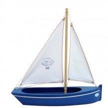 Grande barque en bois bleue - Bateaux Tirot