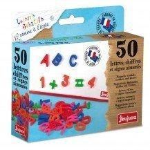 Coffret 50 lettres majuscules, chiffres et signes magnétiques - Jeujura