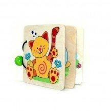 Livre en bois des Animaux colorés - Fabricant Allemand