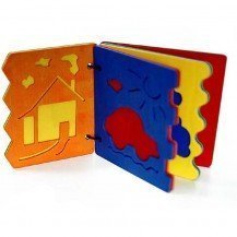 Livre en bois des formes en relief - Fabricant Allemand