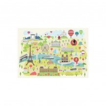 Puzzle en bois Paris illustré 24 pcs - Michèle Wilson
