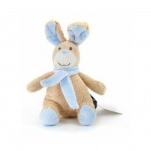 Peluche Lapin bleu assis 25 cm - Mailou Tradition