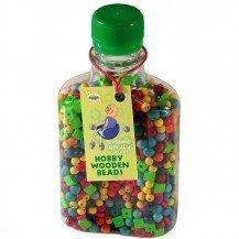 Perles en bois colorées - Artisan Tchèque