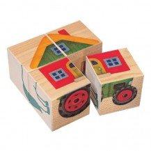 Cubes en bois la ferme - Selecta