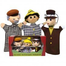 Set 3 marionnettes Pinocchio - Artisan Tchèque