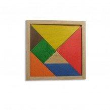 Tangram en bois multicolore - Artisan du Jura