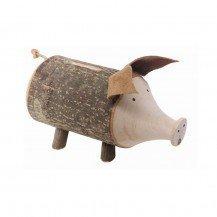 Tirelire Cochon en bois brut - Fabricant Européen