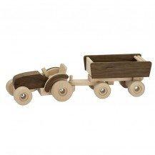 Tracteur en bois avec sa remorque - Fabricant Européen